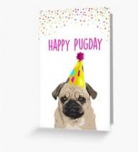 Happy Pugday Birthday Card