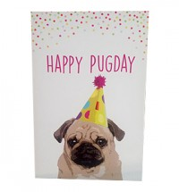 Happy Pugday Blank Card