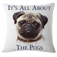 It's All About The Pug Cushion Cover