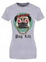Ladies Pug Thug Life T-Shirt