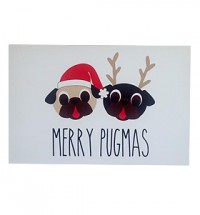 Merry Pugmass Christmas Card