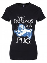 My Pug Is My Patronus Unicorn Ladies T-Shirt