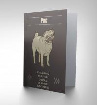 Pug Character Blank Card