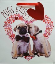 Pugs & kisses Small Gift Bag