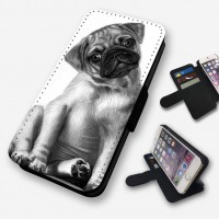 Pug Sketched Effect Phone Case For Various Models