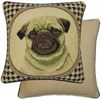 Dog Tooth Pug Cushion Cover