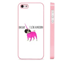 Pug One Day I'll Be A Unicorn Cover (For all iPhone models)