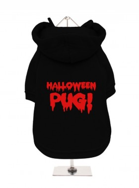 Halloween Pug  Hooded Sweater
