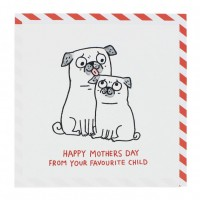 Funny Pug Mothers Day Card By Gemma Correll