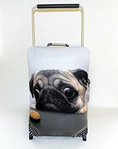 Pug Large Suitcase Cover