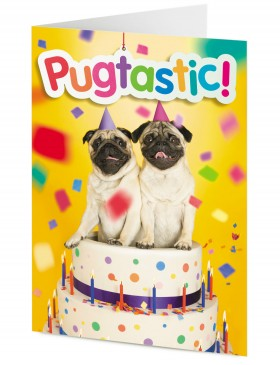 Pugtastic Birthday Card