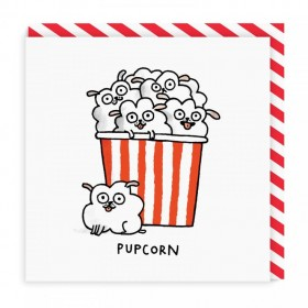 Pupcorn Pug Card By Gemma Correll