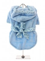 COSY FLEECE BLUE BATH ROBE