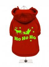 Red Christmas Santa Fleece Lined Hoodie