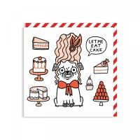 Funny Blank Pug  Card By Gemma Correll