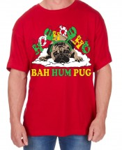 Mens Bahum Pug Christmas T-Shirt