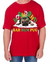 Mens Bahum Pug Christmas T-Shirt