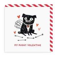 My Puggy Valentine Pug Card By Gemma Correll