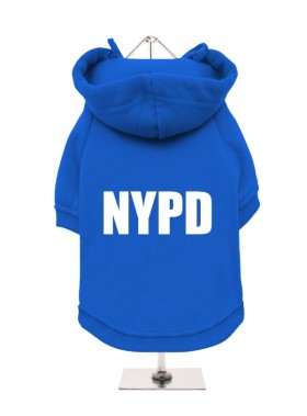 NYPD FLEECE LINED HOODED SWEATER