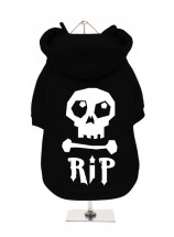 R.I.P Black Halloween Fleece Lined Hoodie