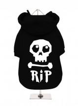 R.I.P Black Halloween Fleece Lined Hoodie