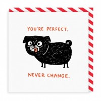 You're Perfect Never Change Blank Card By Gemma Correll