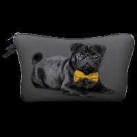 Black Pug Makeup Bag