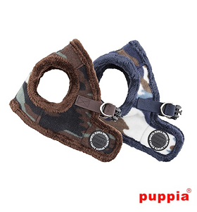 Puppia Fleece Lined Corporal Jacket Harness B (Available in 2 colours)
