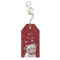 Pug Christmas Gift Tags