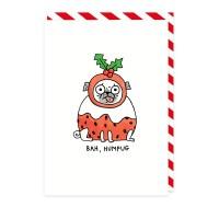 Bah Humpug Pug Christmas Card By Gemma Correll