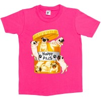 Kid's Happy Pills Pug T-Shirt (Available in 7 colours)