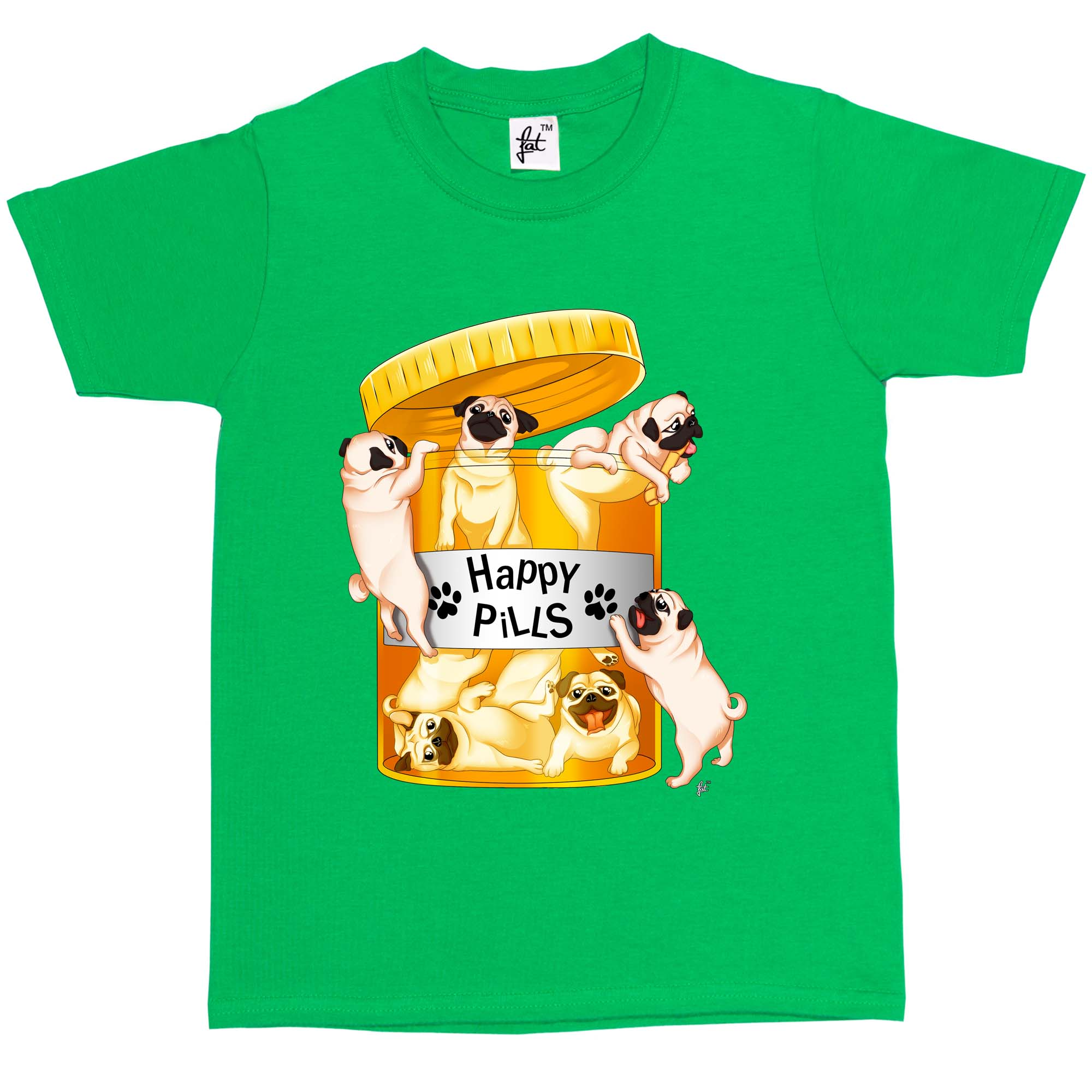 Kid S Happy Pills Pug T Shirt Available In 7 Colours I