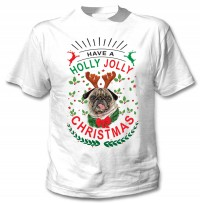 Have A Holly Jolly Pug Christmas T-Shirt