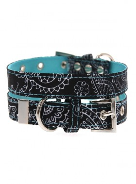 Urban Pup Black Paisley Collar
