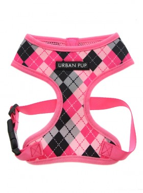 Urban Pup Pink Argyle Checked Harness