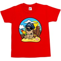 Kid's Pirate Pug T-S (Available in 10 colours)
