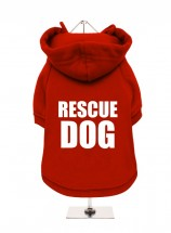 RESCUE DOG FLEECE LINED HOODED SWEATER