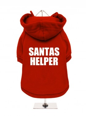 Santa's Helper Christmas  Fleece Lined Hoodie