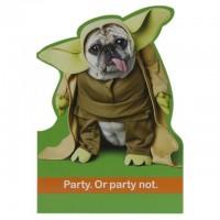 Star Wars Pug Birthday Card