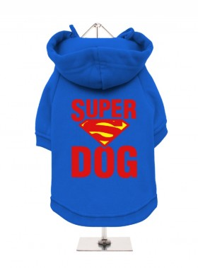 SUPER DOG  FLEECE LINED HOODED SWEATER