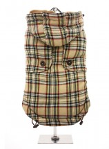 Urban Pup Tartan Beige Coat