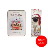 To The Both Of You Pug Christmas Card & Gift Bag Offer