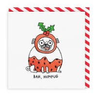 Bah Humpug Pug Christmas Card By Gemma Correll