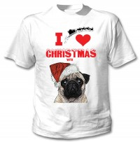 I Love Christmas With Pugs Unisex T-Shirt