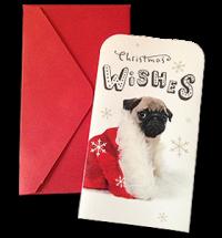 Pug Puppy Christmas Money & Voucher Card