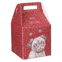 Pug Christmas Small Gift Wrap Box
