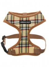 Urban Pup Beige Checked Tartan Harness