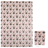 Large Thick Pug Christmas Gift Wrap Sheets & Matching Gift Tag