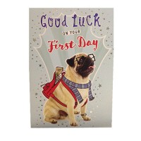 Good Luck On Your First Day Card