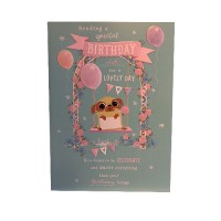 Large Pug Birthday Card